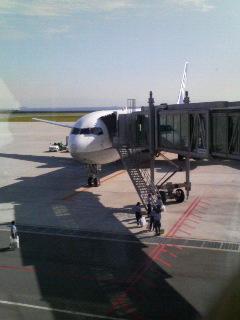 神戸空港に到着